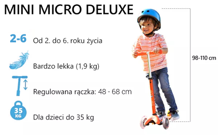 HULAJNOGA MINI MICRO DELUXE ORANGE