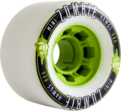 MINI ZOMBIES 70mm80a white green core
