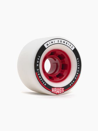 MINI ZOMBIES 70mm80a white red core