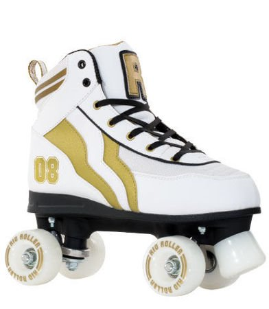 Wrotki Rio Varsity White/gold